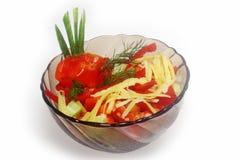 Salada búlgara isolada Foto de Stock Royalty Free