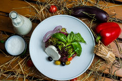 Salada branca do queijo Imagens de Stock