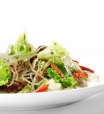 Salada - carne com macarronete Foto de Stock