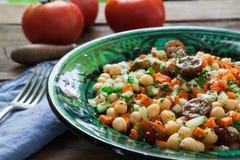 Salada caseiro dos grãos-de-bico Fotos de Stock
