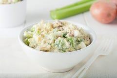 Salada caseiro fresca da batata Fotografia de Stock
