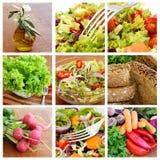 Salada - colagem Imagens de Stock Royalty Free