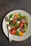 Salada colorida do tomate Imagens de Stock Royalty Free
