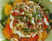 Salada colorido fotografia de stock