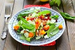Salada com abóbora e aipo fresco da haste Imagem de Stock Royalty Free