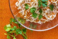 Laranja vegetal da salsa da salada do alimento das cenouras do aipo Foto de Stock