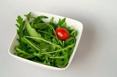 Salada com arugula fotografia de stock
