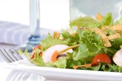 Salada com azul Fotos de Stock