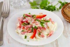 Salada com batata e pimenta Foto de Stock Royalty Free
