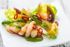 Salada com camarão Fotos de Stock