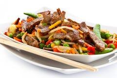 Salada com carne Imagens de Stock