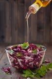 Salada com couve vermelha Fotografia de Stock Royalty Free