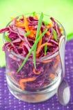 Salada com couve vermelha e cenoura Fotos de Stock