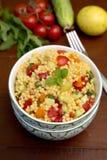 Salada com cuscuz e vegetais Foto de Stock Royalty Free