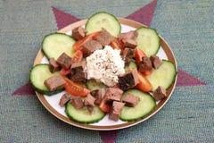 Salada com fígado grelhado Foto de Stock