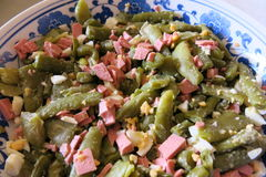 Salada com feijões Fotografia de Stock