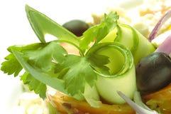 Salada com Feta-Queijo fotografia de stock