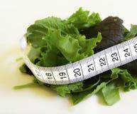 Salada com fita da medida imagens de stock royalty free