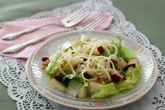 Salada com fruto e porcas Foto de Stock