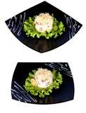Salada com galinha e cogumelos Fotos de Stock Royalty Free