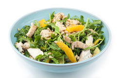 Salada com galinha e laranja Foto de Stock Royalty Free