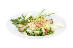 Salada com galinha e os vegetais grelhados imagem de stock royalty free