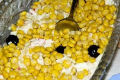 Salada com grões do milho Fotos de Stock