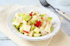 Salada com maçãs e aipo Imagens de Stock