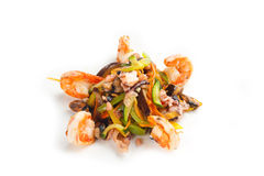 Salada com marisco fotos de stock royalty free