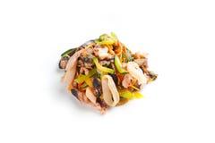 Salada com marisco imagens de stock