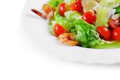 Salada com marisco Foto de Stock Royalty Free