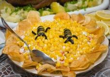 Salada com milho doce Foto de Stock Royalty Free