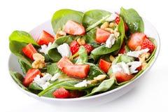 Salada com morango Imagens de Stock Royalty Free