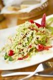 Salada com morango, quivi e amêndoas Imagens de Stock