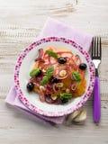 Salada com os tomates do coração do boi Imagem de Stock