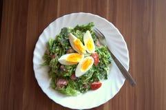 Salada com ovo Foto de Stock Royalty Free