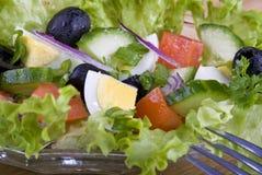 Salada com ovo e tomate Fotografia de Stock