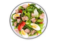 Salada com peixes de atum Fotografia de Stock Royalty Free