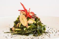 Salada com pepinos Imagem de Stock