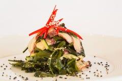 Salada com pepinos Imagens de Stock Royalty Free