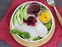 Salada com peru fotografia de stock