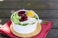 Salada com peru foto de stock