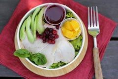 Salada com peru imagens de stock royalty free