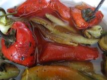Salada com pimentas Imagem de Stock