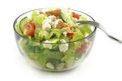 Salada com queijo de feta Imagens de Stock