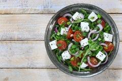 Salada com rúcula Fotografia de Stock