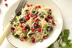 Salada com raiz de aipo Foto de Stock Royalty Free