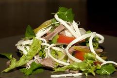 Salada com tomates e carne fotos de stock royalty free