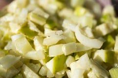 Salada com um aipo e uma maçã Imagem de Stock Royalty Free