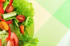Salada com vegetal Imagens de Stock Royalty Free